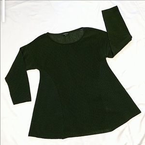Lafayette 148 NY Forest Green Wool/Cotton Sweater